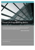 Visual C# Programming Basics learn and download tutorial in PDF