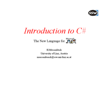 Introduction to CSharp (C#)