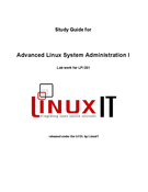 Advanced Linux System Administration I ( LPI 201)