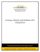 Creating a Website with Publisher 2016
