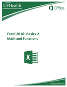 Excel 2016 Basics Math and Functions