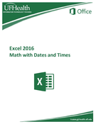 Excel 2016 Math with Dates and Times