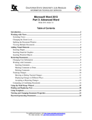 Microsoft Word 2013 Part 3: Advanced