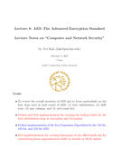 AES The Advanced Encryption Standard
