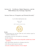 Certificates, Digital Signatures, and the Diffie-Hellman Key Exchange Algorithm