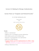Hashing for Message Authentication