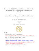 TCP/IP Vulnerabilities and DoS Attacks