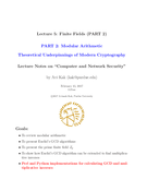 Finite Fields (PART 2) - Modular Arithmetic