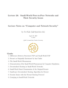 Small-World Peer-to-Peer Networks and Their Security Issues