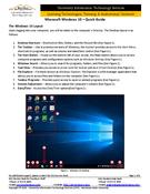 Microsoft Windows 10 – Quick Guide