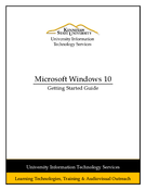 Windows 10 - Getting Started