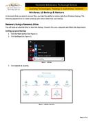 Windows 10 - Backup & Restore