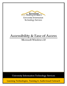 Windows 10 - Accessibility & Ease of Access