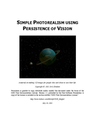 Simple Photorealism using persistence of vision