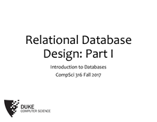 Databases Relational Database Design