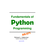Fundamentals of Python Programming