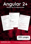 Angular 2+ Notes for Professionals book