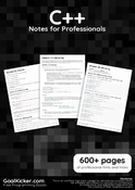 C++ Notes for Professionals book