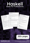 Haskell Notes for Professionals book