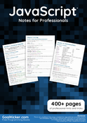 JavaScript Notes for Professionals book