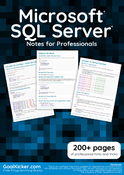Microsoft SQL Server Notes for Professionals book