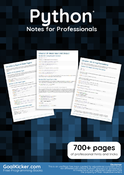 Python Notes for Professionals book