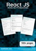 React JS Notes for Professionals book