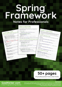 Spring Framework Notes for Professionals book