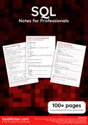 SQL Notes for Professionals book