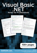 Visual Basic .NET Notes for Professionals book