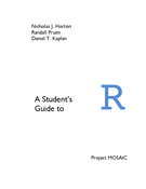 A Student's Guide to R