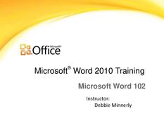 Word 2010 Training
