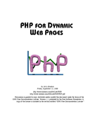 PHP for dynamic web pages