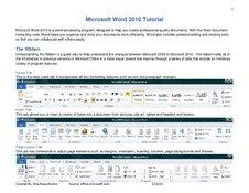Microsoft Word 2010 Tutorial