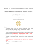 Security Vulnerabilities of Mobile Devices