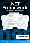 .NET Framework Notes for Professionals book