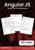 AngularJS Notes for Professionals book