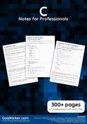 C Notes for Professionals book