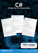 C# Notes for Professionals book