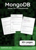 MongoDB Notes for Professionals book