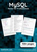 MySQL Notes for Professionals book
