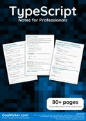 TypeScript Notes for Professionals book